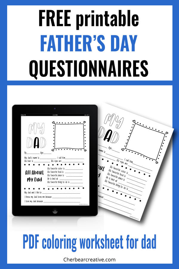 Free Printable Father's Day Questionnaire
