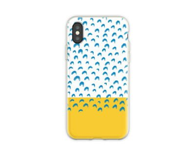 Abstract Phone Case Yellow and Blue