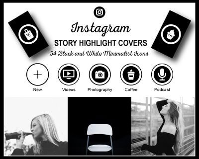 Black and White Instagram Highlight Covers