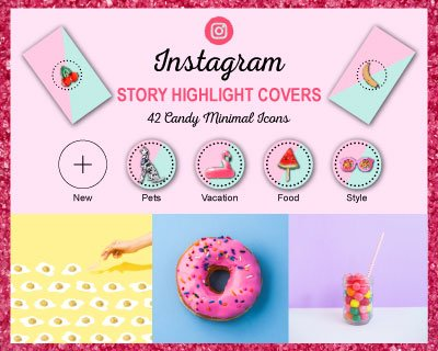 Candy Minimal Instagram Highlight Covers