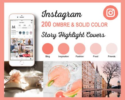 Ombre Instagram Highlight Covers