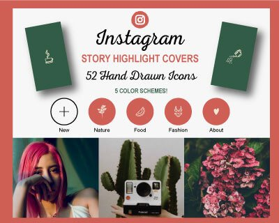Hand Drawn Instagram Highlight Covers