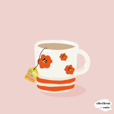 Happy Cup of Tea Art Print