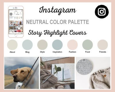 Neutral Color Palette Instagram Highlight Covers