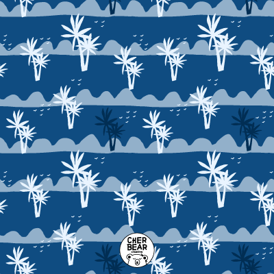Palm Trees Pattern by Cherbear Creative