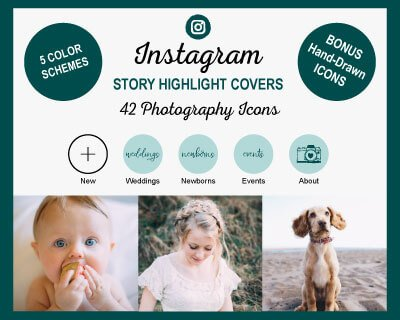 Photography Instagram Highlight Covers