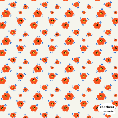 Small Retro Flower Pattern
