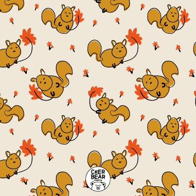 Squirrels Pattern by Cherbear Creative